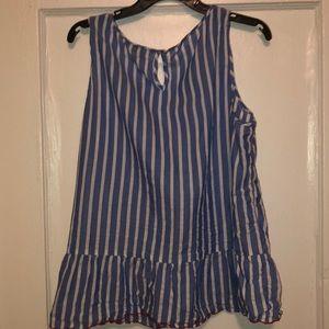 *Tommy Hilfiger* Womens Striped Peplum Top